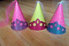 DIY Princess hats.... would be cute in felt