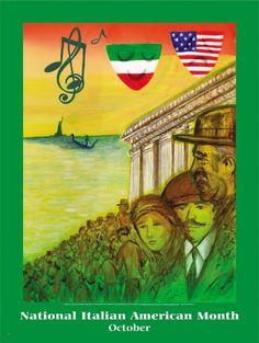 National Italian American Heritage Month Poster Item# Size 18 x is Italian American Heritage Month European American, Heritage Month, Bookmarks, Om, Poster, Sensitivity, Diversity, Marque Page, Billboard