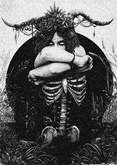 Dark forest, glow of the lake, an eternal dance of death - Halloween İdeas Art Macabre, La Danse Macabre, Arte Horror, Horror Art, Inspiration Art, Art Inspo, Art Sombre, Art Sinistre, Art Noir