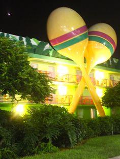 All Star Music Resort at night