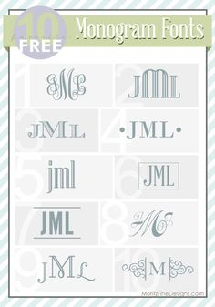Use these Top 10 Free Monogram Fonts to create an easy monogram. Free to download. Add some swirls or lines to jazz up your best free monogram font.