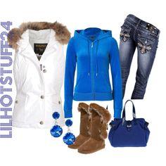 """blue"" by lilhotstuff24 on Polyvore"