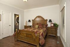 Master bedroom with ensuite....hardwood floors, crown moulding....  www.qualityhomes.ca