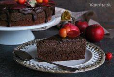 Čokoládovo-jablečný moučník - recept   Varecha.sk Apple Cake, Pudding, Treats, Sweet, Recipes, Food, Chocolate Cakes, Rum, Kitchens