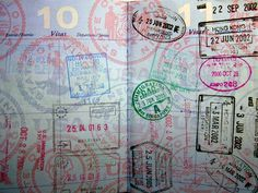 hoping to run out of passport pages