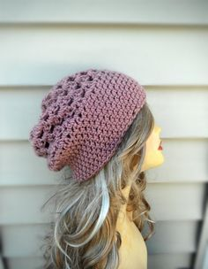 Womens Hats Slouchy Beanie Hat, Crochet Hat, Winter Accessories, Choose Your Color