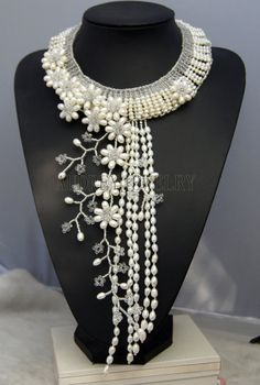 Bridesmaid Necklacechoker necklaceBeaded by audreyjewelry on Etsy, $75.00