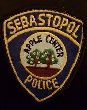 Sebastopol CA. Police Patch.