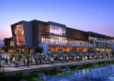 Taihu New City Cultural Zone & Lan Kwai Fong Wuxi, China Shopping Mall Architecture, Retail Architecture, Commercial Architecture, Modern Architecture, Commercial Complex, Commercial Street, Wuxi, Mall Design, Retail Design