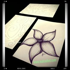 Plumeria & Tribal designs  #polynesianart #plumeria #samoan #tattoo