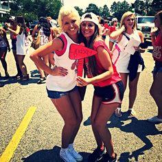 Alpha Omicron Pi at Georgia Southern University #AlphaOmicronPi #AOII #BidDay #letters #snapback #sorority #GeorgiaSouthern