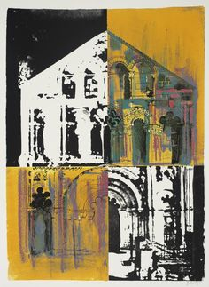 'Petit Palais: White and Yellow' (1972) by British artist John Piper (1903-1992). Screenprint on paper, 782 x 572 mm. via the Tate