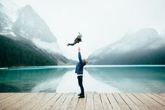 """Exploring Lake Louise with adventurers to be. Beautiful shot by (at Lake Louise, AB, Canada) """" Album Photo, First Time Moms, Thing 1, Mom And Dad, Family Photography, Photography Books, Canon Photography, Product Photography, Newborn Photography"""