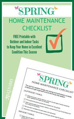 Spring Home Maintenance Checklist: Free Printable