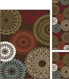 Tayse Rugs Majesty Jayce Brown 5' x 7', 20'' x 60'', 20'' x 32'' Area Rug, Beige & Tan