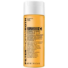 Peter Thomas Roth Camu Camu Vitamin C Brightening Powder Cleanser is a gentle, water-activated daily cleansing powder that transforms into a rich, creamy facial cleanser to effectively clear away dirt, oil, and impurities. Peter Thomas Roth, Anti Aging Tips, Anti Aging Skin Care, Clear Pores, Skin Care Clinic, Cleanser And Toner, Facial Cleanser, Flaky Skin, Uneven Skin Tone