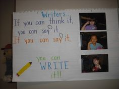 In my district we use Lucy Caulkins' Writer's Wrokshop for our writing curriculum. I love the way she introduces the idea of writing to st...
