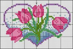 FREE Floral heart design with tulips | Lesley Teare Thoughts on Design