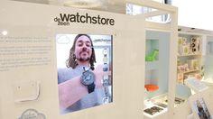 Augmented reality demonstration at Dezeen's Imagine Shop in Selfridges