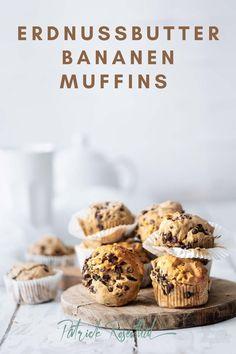 Gesunde Erdnussbutter- Bananenmuffins I Rezept