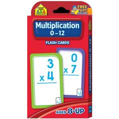 School Zone Multiplication 0-12 Flash Cards will help tune up your child's multiplication skills for speed and accuracy. Manufactured by School Zone.