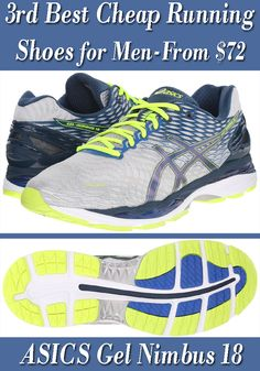 4640e45773f ASICS Men s Gel Nimbus 18 Running Shoe  with stretch reinforcements.