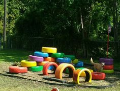 DIY tire climber..Really fun for active little ones