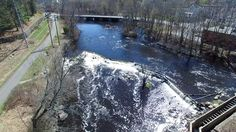 Wamesit Falls Overlook Lowell, MA. By Jamie Boudreau Airgoz Aerial Photography