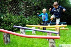 Zabawy ruchowe dla dzieci Kids Gym, Rope Bridge, Activities, Park, Children, Garden, Young Children, Boys, Garten