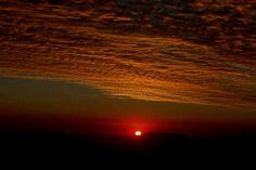 puesta de sol desde las alturas de farellones