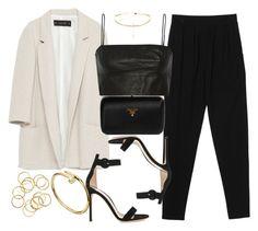 """Style #11147"" by vany-alvarado ❤ liked on Polyvore featuring Zara, Monki, T By Alexander Wang, Gianvito Rossi and Prada"