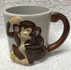 MONKEY Child Cup 3D Mug JSNY Jeffery Snyder Taiwan tail handle VINTAGE ceramic  | eBay