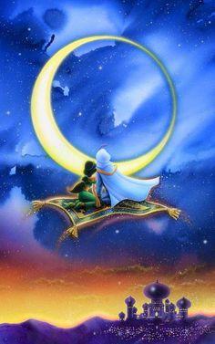 Walt Disney Co, Arte Disney, Disney Love, Disney Magic, Disney Princess Jasmine, Aladdin And Jasmine, Disney Princess Pictures, Princess Aurora, Royal Princess