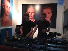 DJing at the Red Hot opening 2013. London.