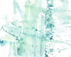 Cloud Forest - Deep In The Air I Abstract watercolor - Aqua, blue, green water air energy
