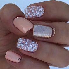 113 elegant nail designs for short nails page 19 Elegant Nail Designs, Flower Nail Designs, Short Nail Designs, Elegant Nails, Nail Art Designs, Nails Design, Blog Designs, Nail Gloss, Matte Nails