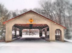 A beautiful covered bridge in Wooster, Ohio