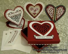 Valentine Giftbox idea - great for a workshop can than use the 'box' for goodies after storing cards in it!
