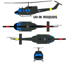 UH-1N Iroquois by bagera3005