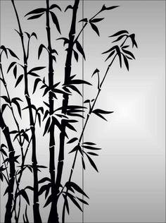 Bamboo Drawing, Bamboo Art, Hokusai, Creative Wall Decor, Folk Art Flowers, Art Asiatique, Mehndi Art Designs, Crafts With Pictures, Bedroom Murals