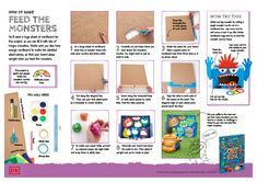 Home Learning for Kids Home Learning, Fun Learning, Dk Books, Activity Sheets For Kids, Look At The Book, Monster Games, Fun Crafts To Do, Home Activities, Cardboard Crafts
