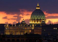 S. Pietro dal Pincio, al tramonto - St. Peter from the Pincio at dusk - Roma (Italy)