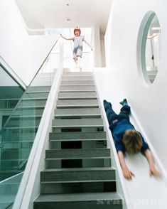 Stair with slide | Stairporn.org