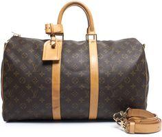 Louis Vuitton Monogram Canvas Keepall 45 Bandouliere Bag ($999)