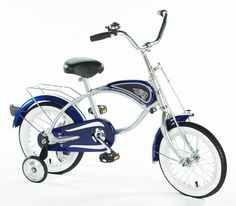 """Liam 4th bday?,  14\"""" Cruiser Bicycle with Training Wheels in Blue"""