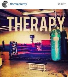 Boxing=therapy  Yep, this is my favorite way to deal with my issues.  And no, I…