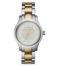 KARL LAGERFELD WATCHES KL1222 Two-toned slim chain watch (Silver