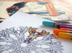 Adult Coloring Book Markers Lovely Coloring Books for Grown Ups 101 How to Color Coloring Tips, Free Coloring, Book Markers, Colouring Techniques, To Color, Coloring Book Pages, Copics, Colored Pencils, Art Lessons