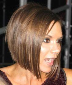 i love victoria beckhams hair! she looks better as a brunette