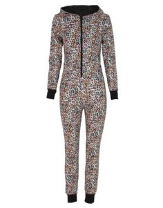 Pink Leopard Print Hooded Jumpsuit Onesie £ 14.95 #chiarafashion